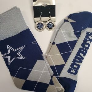 Accessories - Dallas Cowboys Socks & Earrings